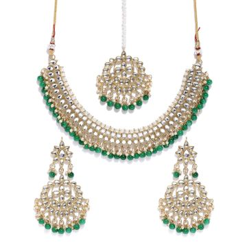 SUKKHI | Sukkhi Ritzy Kundan Gold Plated Choker Neckalce Set for Women