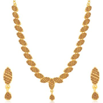 SUKKHI | Sukkhi Sparkling LCT Gold Plated Necklace Set for Women