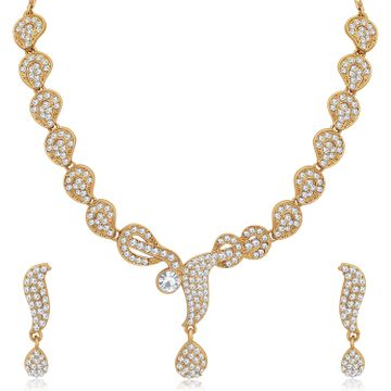 SUKKHI | Sukkhi Delightful Mehandi Gold Plated Necklace Set for Women