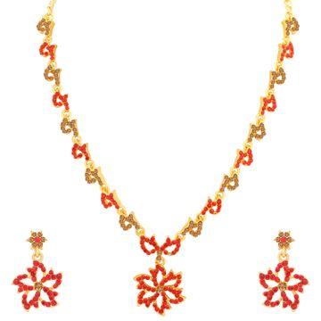 SUKKHI | Sukkhi Trendy LCT and Red Stone Gold Plated Necklace Set for Women