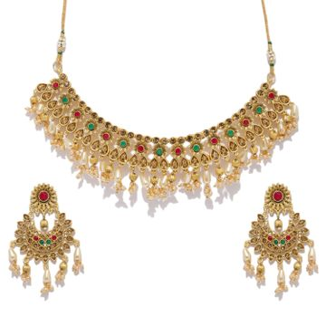 SUKKHI | Sukkhi Trendy Gold Plated LCT Stone Neckalce Set for Women