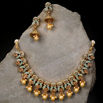 SUKKHI | Sukkhi Fine Mint Collection Gold Plated Necklace Set for Women