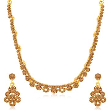 SUKKHI | Sukkhi Sparkly LCT Gold Plated Necklace Set for Women