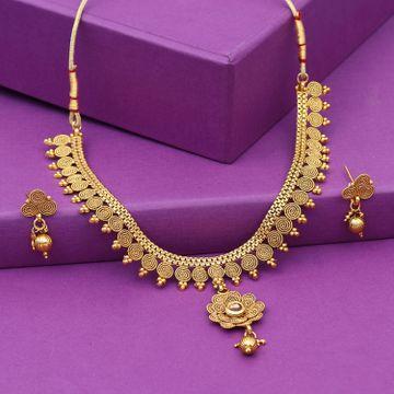 SUKKHI | Sukkhi Fascinating Gold Plated Jalebi Choker Necklace Set for Women