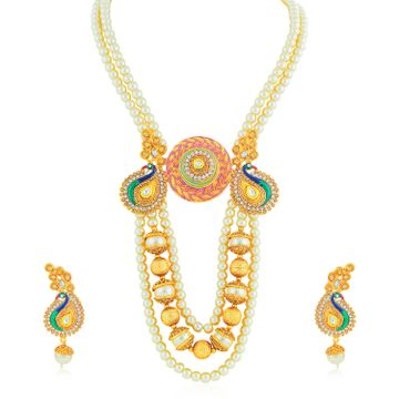 SUKKHI | Sukkhi Excellent Gold Plated Peacock Collar Necklace Set for Women