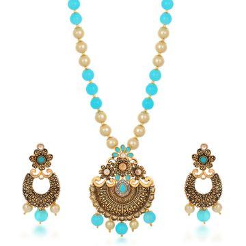 SUKKHI | Sukkhi Resplendent Collar Gold Plated Necklace Set for Women