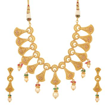 SUKKHI | Sukkhi Exotic Choker Gold Plated Necklace Set for Women