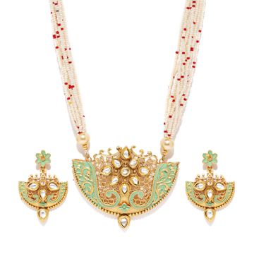 SUKKHI | Sukkhi Glorious Mint Collection Gold Plated Kundan Neckalce Set for Women