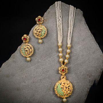 SUKKHI   Sukkhi Designer Mint Collection Gold Plated Neckalce Set for Women