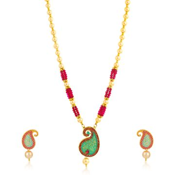SUKKHI | Sukkhi Dazzling Collar Gold Plated Necklace Set for Women