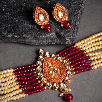 SUKKHI | Sukkhi Marvellous Mint Collection Gold Plated Kundan String Neckalce Set for Women