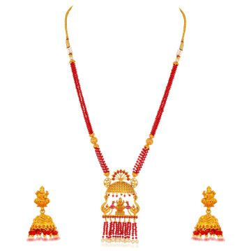 SUKKHI | Sukkhi Stunning Long Haram Gold Plated Necklace Set for Women