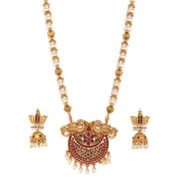 SUKKHI   Sukkhi Glorious Gold Plated Pearl Neckalce Set for Women