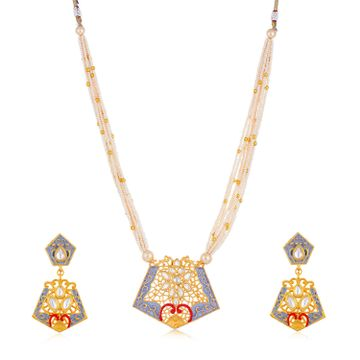 SUKKHI | Sukkhi Marquise Collar Gold Plated Necklace Set for Women