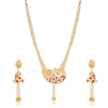 SUKKHI | Sukkhi Shimmering Collar Gold Plated Necklace Set for Women