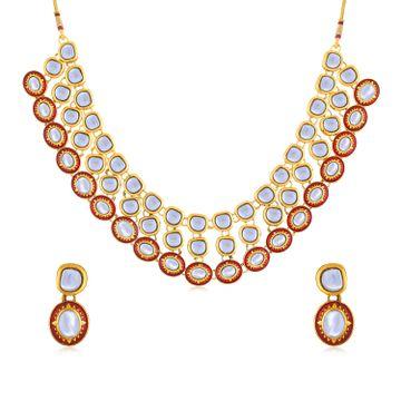SUKKHI   Sukkhi Antique Gold Plated Necklace Set for Women