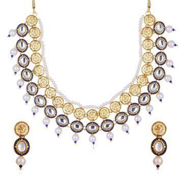 SUKKHI   Sukkhi Beguiling Gold Plated Necklace Set for Women