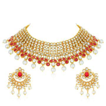 SUKKHI | Sukkhi Designer Gold Plated Necklace Set for Women