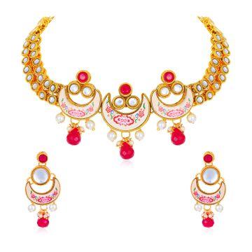 SUKKHI | Sukkhi Excellent Gold Plated Necklace Set for Women