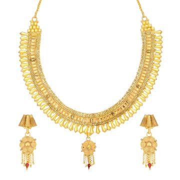 SUKKHI | Sukkhi Precious 24 Carat Gold Plated Choker Necklace Set For Women