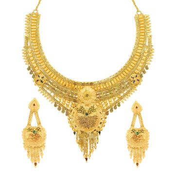 SUKKHI | Sukkhi Ravishing 24 Carat Gold Plated Meenakari Choker Necklace Set For Women