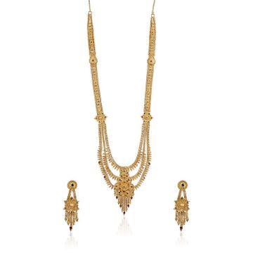 SUKKHI | Sukkhi Delightful 24 Carat Gold Plated Long Haram Necklace Set For Women