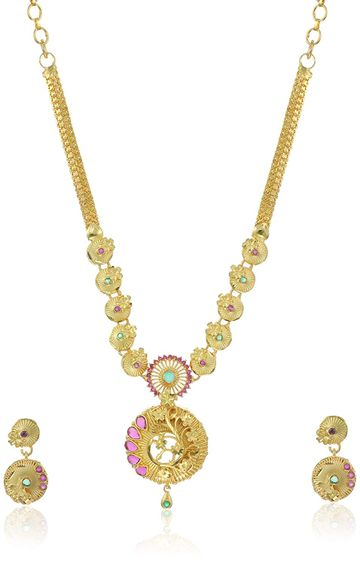 SUKKHI | Sukkhi Mesmerizing 24 Carat Gold Plated Necklace Set For Women