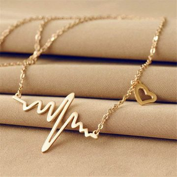 SUKKHI   Sukkhi Classy Gold Plated Heart Beat Necklace For Women