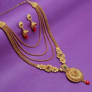 SUKKHI | Sukkhi Glitzy Gold Plated Long Haram Necklace Set For Women
