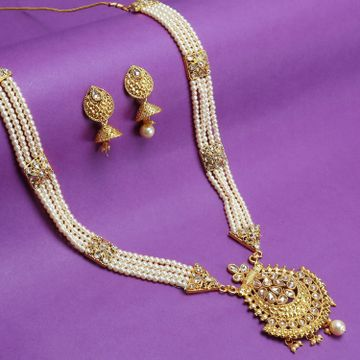 SUKKHI | Sukkhi Luxurious LCT Gold Plated Pearl Long Haram Necklace Set For Women