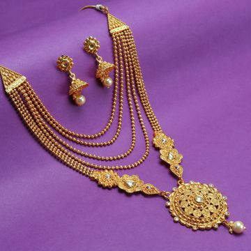 SUKKHI | Sukkhi Delicate LCT Gold Plated Pearl Long Haram Necklace Set For Women