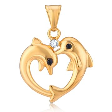 SUKKHI | Sukkhi Modish Gold Plated Dolphin Shaped Fancy Pendant for Women