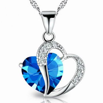 SUKKHI | Sukkhi Trendy Joint Valentine Heart Crystals from Swarovski Rhodium Plated Pendant for Women