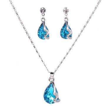 SUKKHI | Sukkhi Intricately Crystals from Swarovski Rhodium Plated Pendant Set for Women