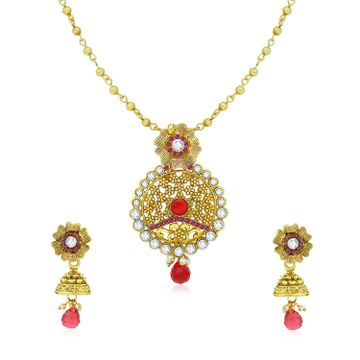 SUKKHI | Sukkhi Incredible Gold Plated Pendant Set for Women