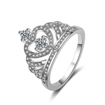 SUKKHI | Sukkhi Exclusive Crown Austrian Diamond Rhodium Plated Ring for Women
