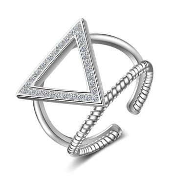 SUKKHI | Sukkhi Adorable Triangle Rhodium Plated Ring for Women