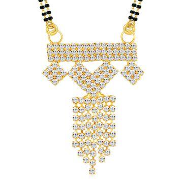 SUKKHI   Sukkhi Graceful Gold Plated Austrian Diamond Mangalsutra Pendant