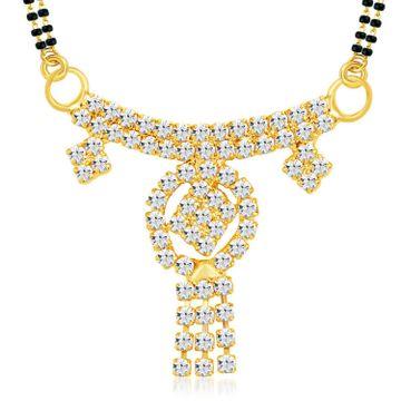 SUKKHI   Sukkhi Pleasing Gold Plated Austrian Diamond Mangalsutra Pendant