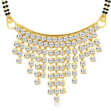 SUKKHI   Sukkhi Delightful Gold Plated Austrian Diamond Mangalsutra Pendant