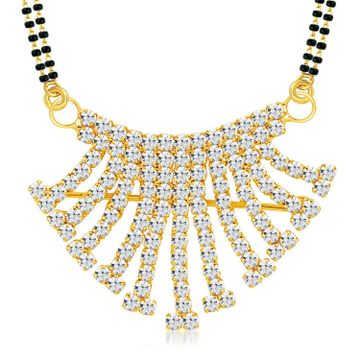 SUKKHI   Sukkhi ShoStopper Eye-pleasing Gold Plated Austrian Diamond Mangalsutra Pendant