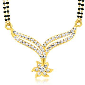 SUKKHI   Sukkhi Angelic Gold Plated Austrian Diamond Mangalsutra Pendant