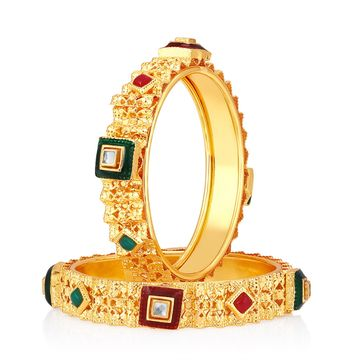 SUKKHI | Sukkhi ShoStopper Designer Traditional Gold Plated Bangle Set For Women