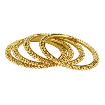 SUKKHI | Sukkhi ShoStopper Traditional Gold Plated Bangle Set of 4 For Women