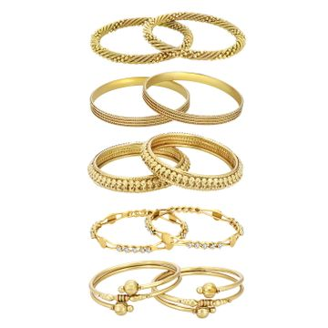 SUKKHI | Sukkhi ShoStopper Jewellery Combo Of Five Trendy Traditional Bangles Set For Women and Girls