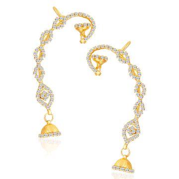 SUKKHI | Sukkhi Sleek Gold Plated Austrian Diamond Earcuff