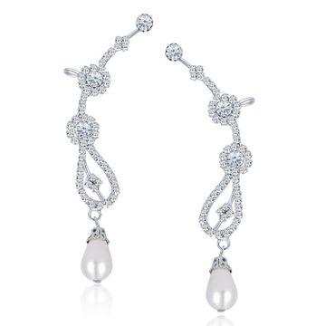 SUKKHI | Sukkhi Glorious Rhodium Plated Austrian Diamond Earcuff