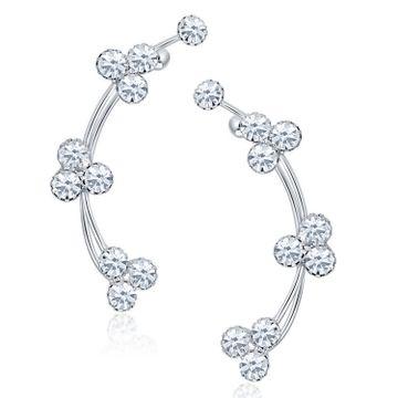 SUKKHI | Sukkhi Luxurious Rhodium Plated Austrian Diamond Earcuff