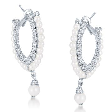 SUKKHI | Sukkhi ShoStopper Magnificent Rhodium Plated Austrian Diamond Earring