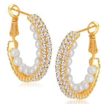 SUKKHI | Sukkhi Beguiling Gold Plated Austrian Diamond Earring